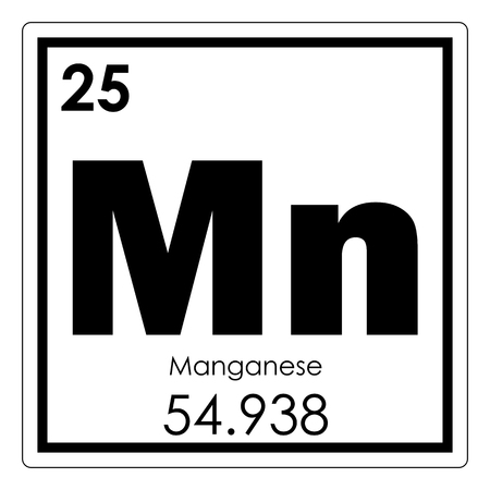 Manganese chemical element periodic table science symbol Archivio Fotografico