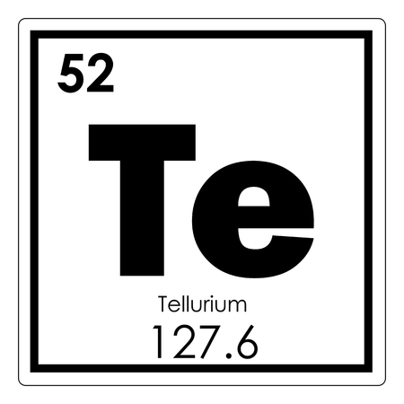 Tellurium chemical element periodic table science symbol