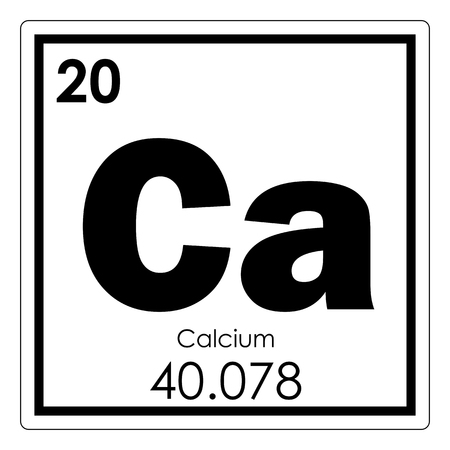 Calcium chemical element periodic table science symbol
