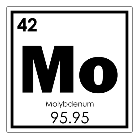 Molybdenum chemical element periodic table science symbol
