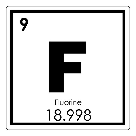 Fluorine chemical element periodic table science symbol Banque d'images