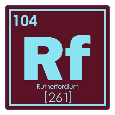 Rutherfordium Chemical Element Periodic Table Science Symbol Stock