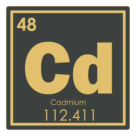 Cadmium chemical element periodic table science symbol