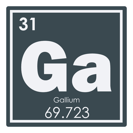 Gallium Chemical Element Periodic Table Science Symbol Stock Photo