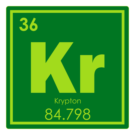 Krypton Chemical Element Periodic Table Science Symbol Stock Photo