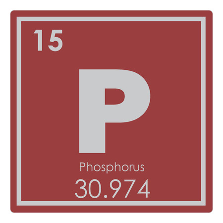 Phosphorus chemical element periodic table science symbol Stock Photo
