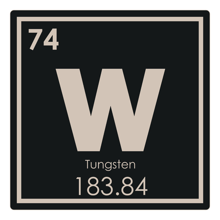 Tungsten chemical element periodic table science symbol