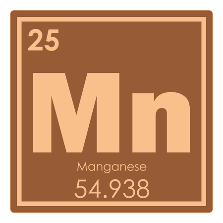 Manganese chemical element periodic table science symbol Stock Photo