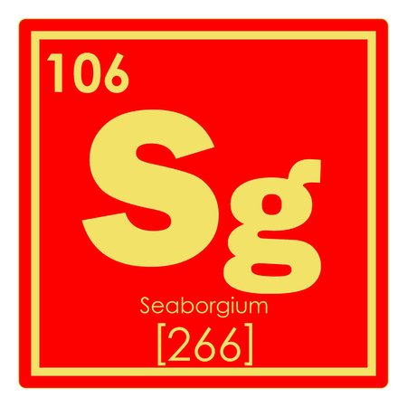 Seaborgium Chemical Element Periodic Table Science Symbol Stock