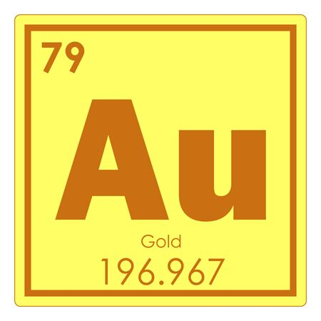 Gold Chemical Element Periodic Table Science Symbol Stock Photo