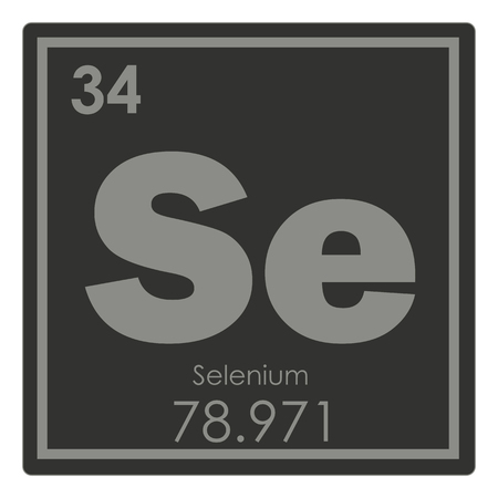 Selenium chemical element periodic table science symbol