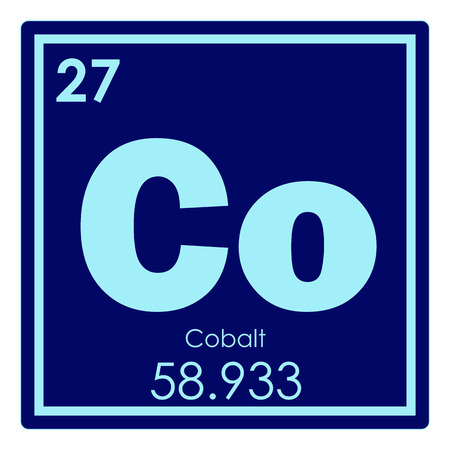 Cobalt Chemical Element Periodic Table Science Symbol Stock Photo