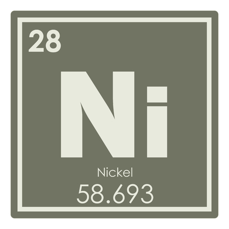 Nickel chemical element periodic table science symbol
