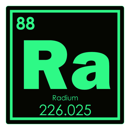 Radium Chemical Element Periodic Table Science Symbol Stock Photo