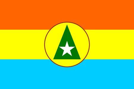 Cabinda republic Angola region historic flag symbol