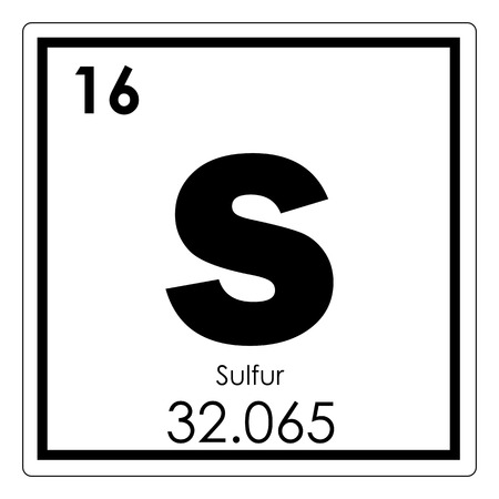 Sulfur chemical element periodic table science symbol
