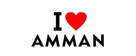 I love Amman city Jordan country heart symbol Stock Photo