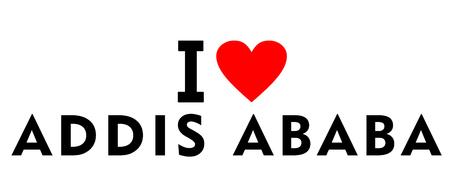 I love Addis Ababa city Ethiopia country heart symbol Stock Photo