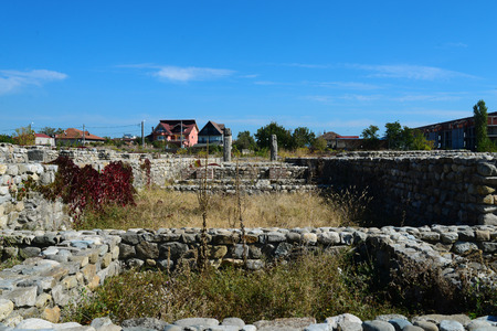 Drobeta Turnu Severin city Roman fort ruins architecture detail