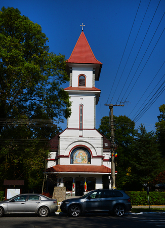 Buzias town Romania Orthodox church landmark architecture