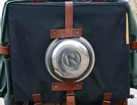 First world war soldier backpack detail
