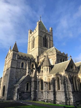 Dublin city Ireland Christ Church Cathedral landmark architecture Stock Photo