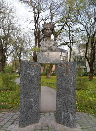 Timisoara city Romania Queen Mary statue detail