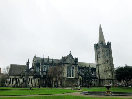 Dublin city Ireland Saint Patrick Cathedral landmark architecture