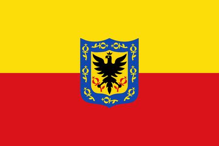 Bogota capital city of Colombia flag symbol illustration