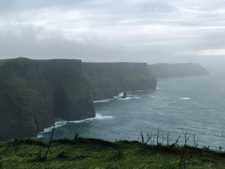 County Clare Ireland Cliffs of Moher foggy landscape