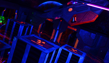 Space ship interior science fiction abstract