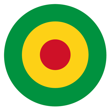 Mali country roundel flag based round symbol