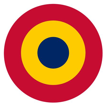 Chad country roundel flag based round symbol