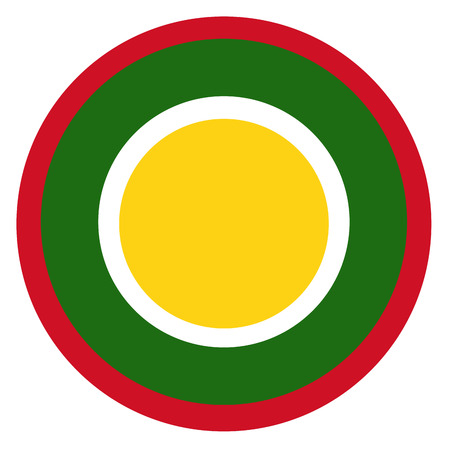 Brunei country roundel flag based round symbol Фото со стока