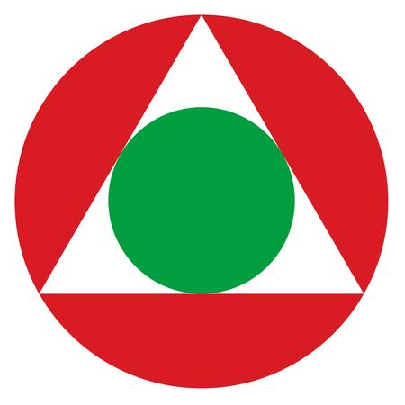 Lebanon country roundel flag based round symbol