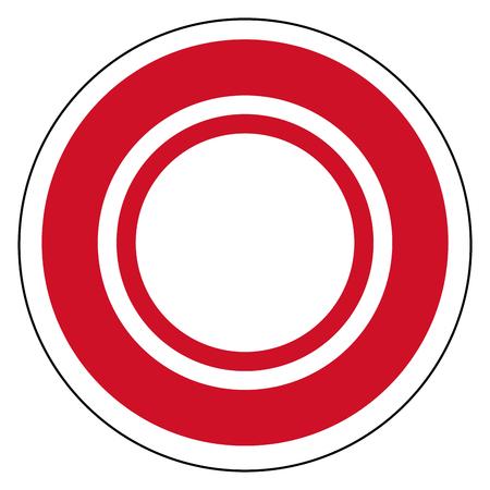 Bahrain country roundel flag based round symbol