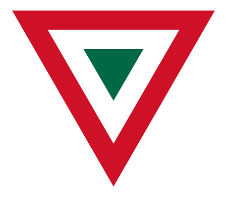 Mexico country roundel flag based triangle symbol