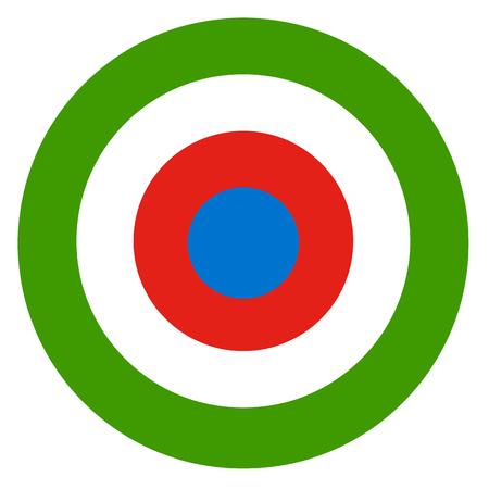 Equatorial Guinea country roundel flag based round symbol