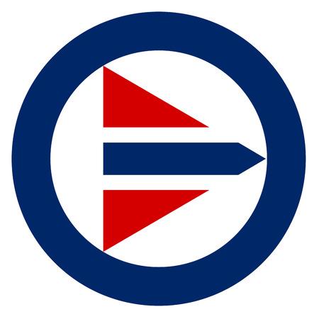 Norway country roundel flag based round symbol