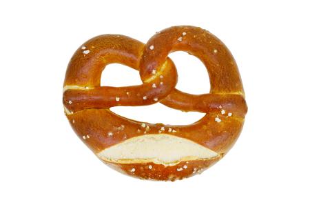 Wheat flour pretzel food isolated over white