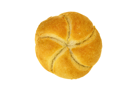 Bread bun food isolated over white