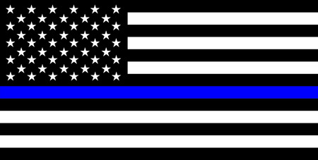 United states of america country police thin blue line flag