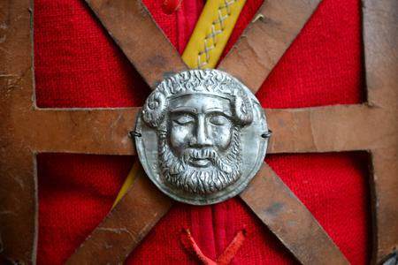 Roman empire soldier uniform Jupiter god medallion Banco de Imagens