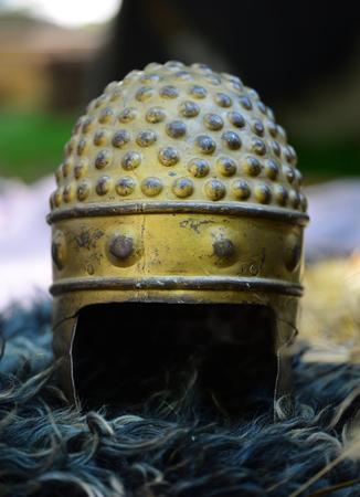 Dacia historic region soldier metal helmet detail