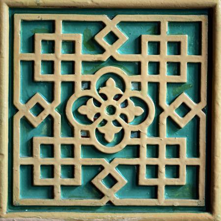 Arab Turkish wall decoration architecture close detail