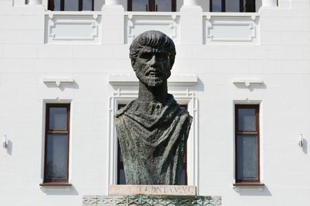 Drobeta turnu severin city romania Iron Gates museum Apollodorus of Damascus statue
