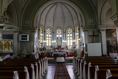 Timisoara city Romania Saint Joseph Church interior architecture Editorial