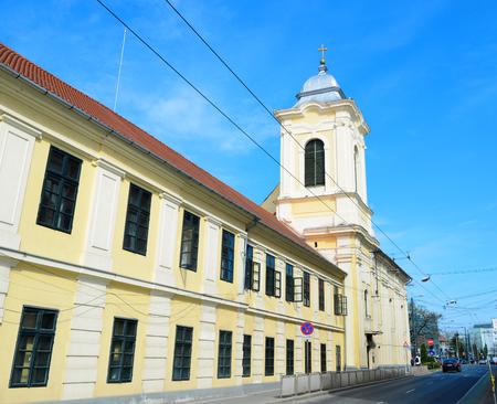 Timisoara city Romania Church and hospital of the Misericordian Monks landmark