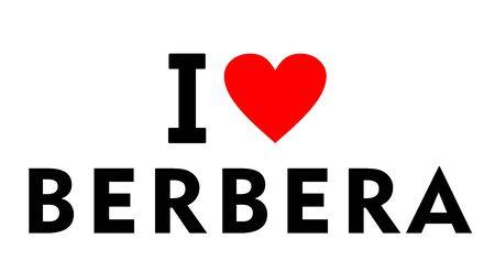 I love Berbera city Somalia country heart symbol Stock fotó