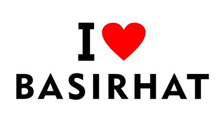 I love Basirhat city India country heart symbol